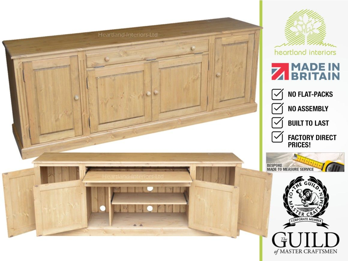 office sideboard. Traditional 7ft Wide Hidden Home Office Sideboard, Hideaway Desk SDH4 Sideboard