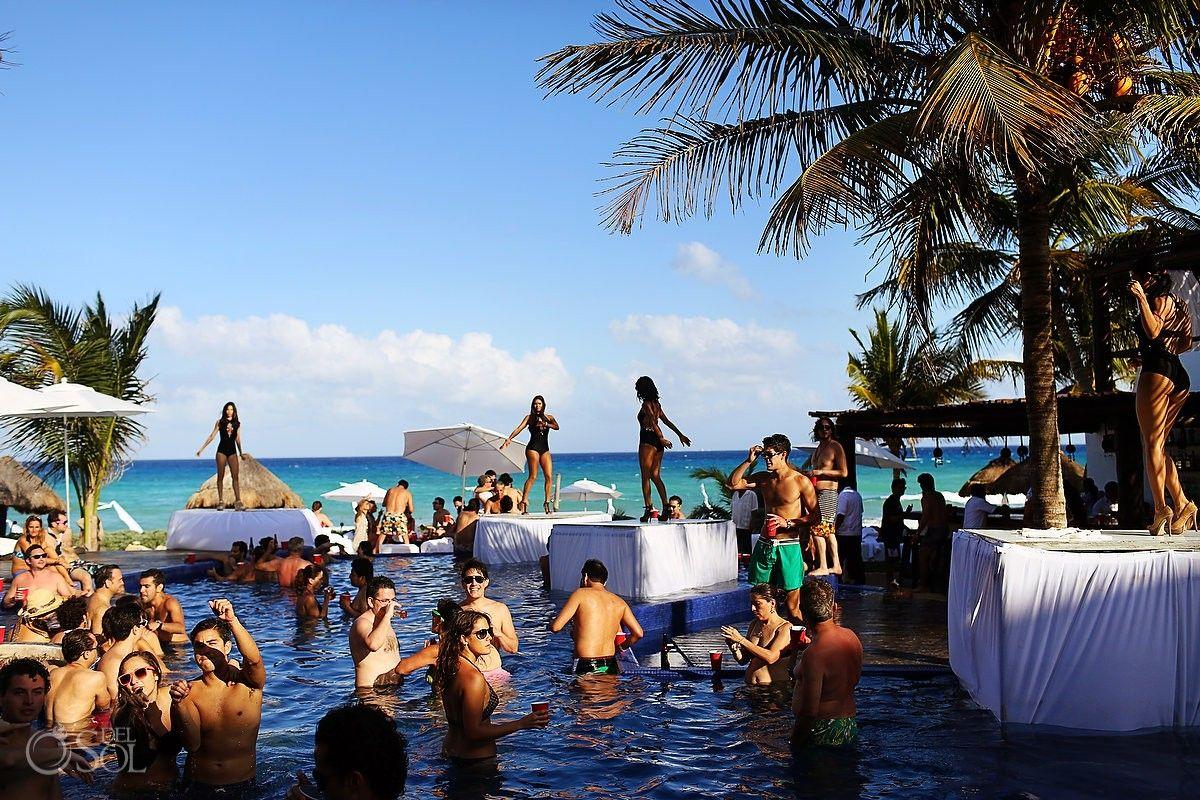 Le Reve Hotel Playa Del Carmen Pool Party Pre Wedding Hot Mexico