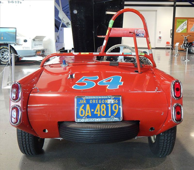 """The view that most competitors had of Harry Eyerly's """"Porsche Duster."""""""