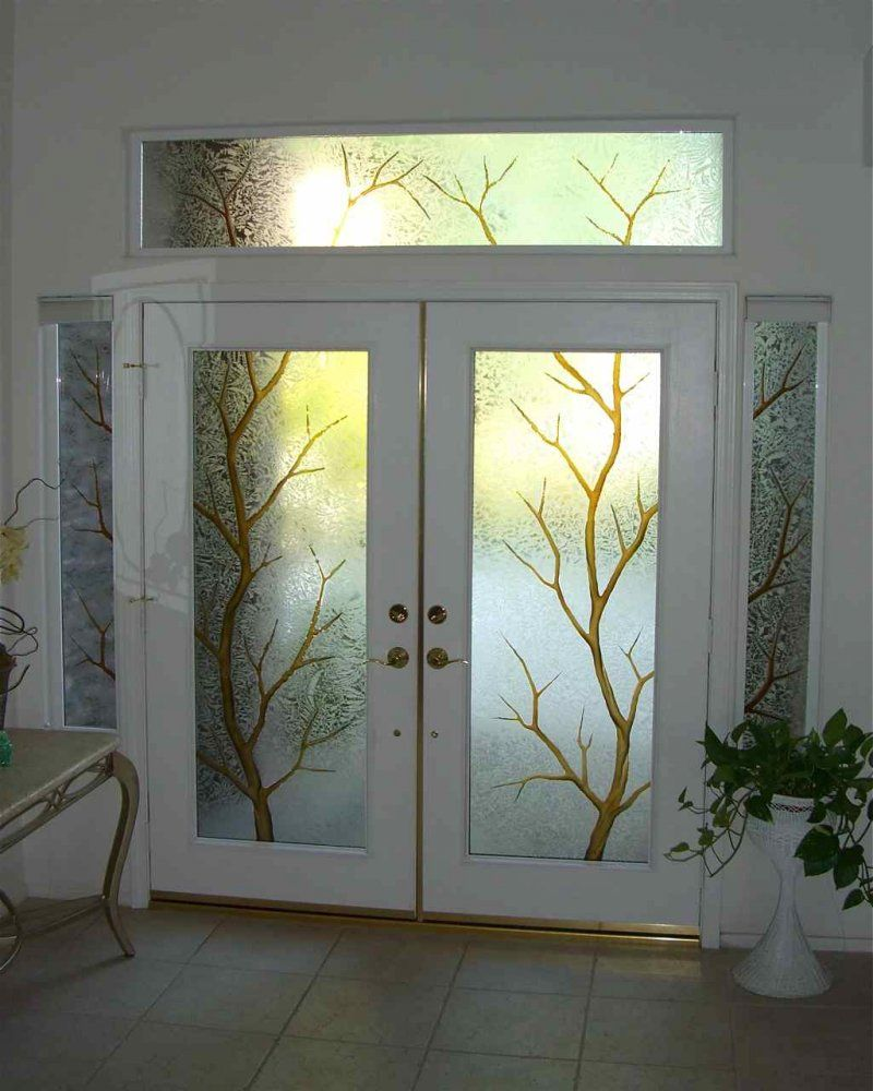 Front Doors For Homes With Windows | Entry Glass: Coordinated Etched Glass  Doors U0026 Windows