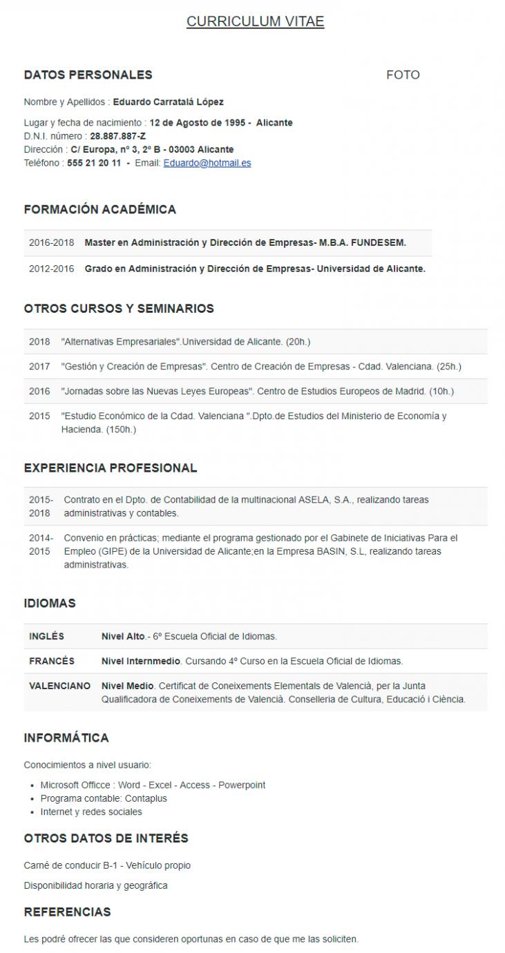 11 Como Hacer Un Resume De Trabajo Profesional