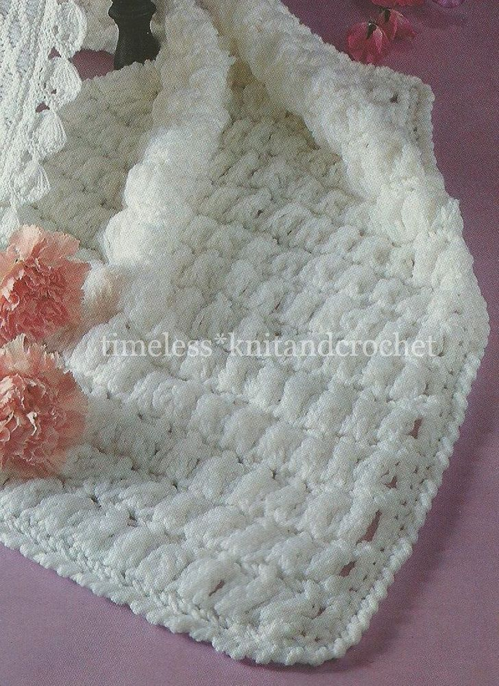 Vintage crochet pattern for baby / babies pram cover / blanket ...