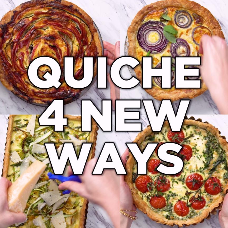 Easy Quiche 4-Ways