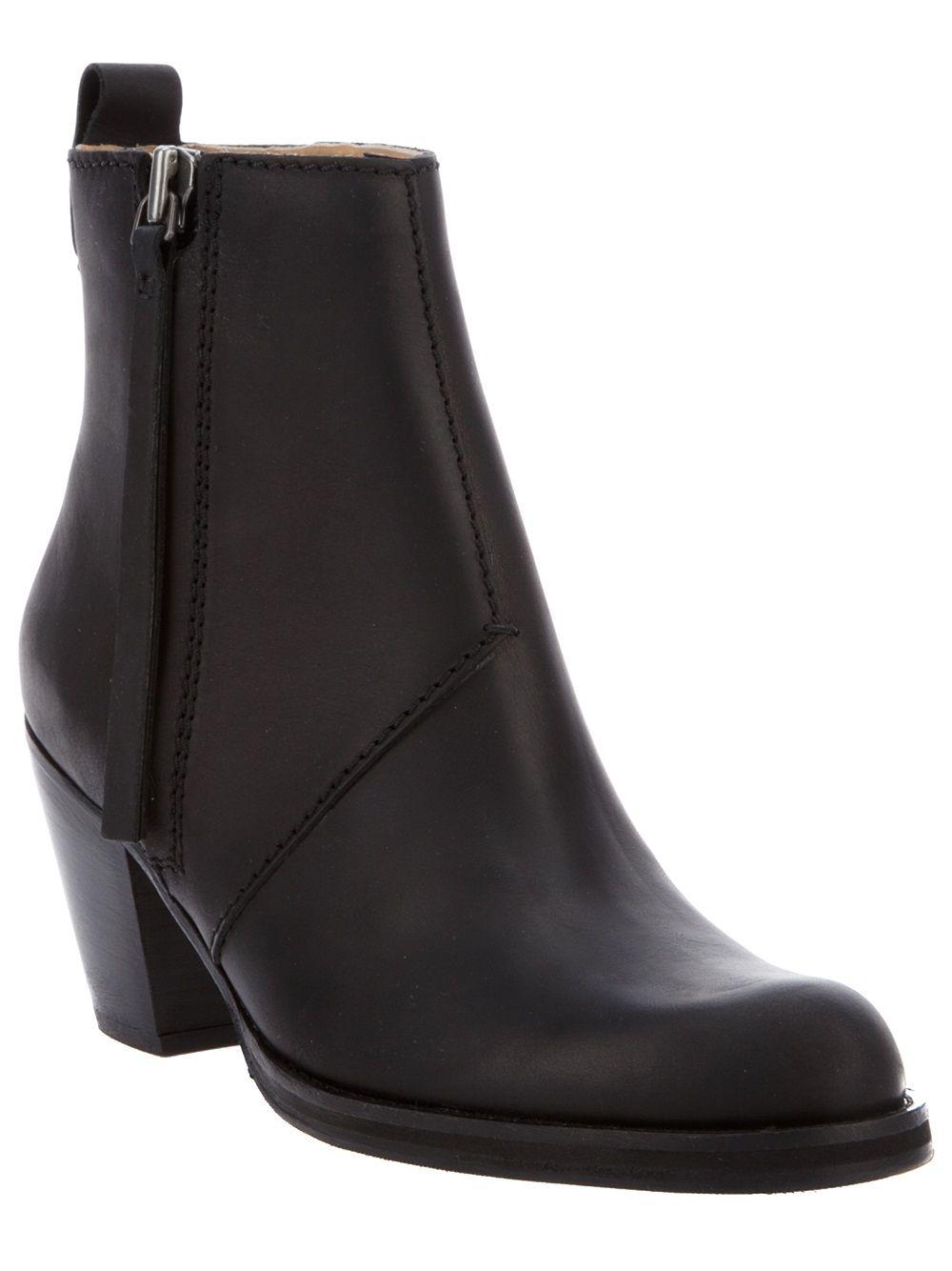 New pistol leather boots Acne Studios Designers