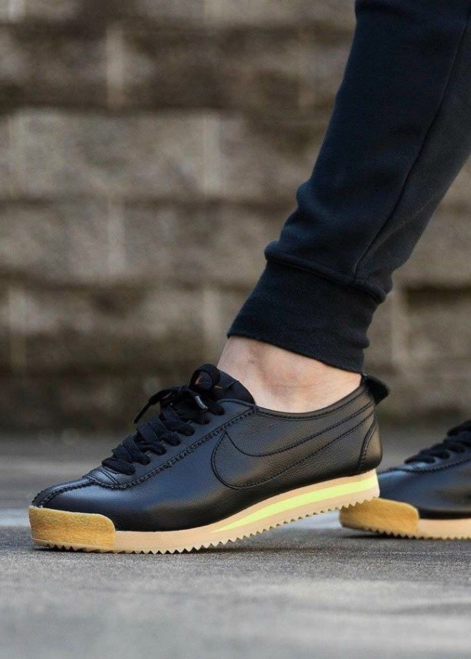 uk availability ca9f5 471f1 Black and gray Nike Fleece   Nike Cortez s in 2019   Nike shoes, Sneakers  nike, Nike cortez