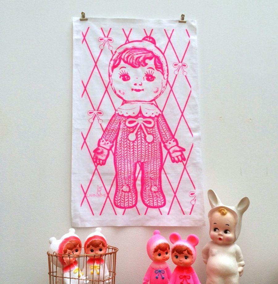 dolls lamp & t towel