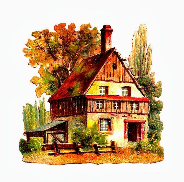 Antique Images Free House Clip Art 2 Graphics Of Rural Cottage And