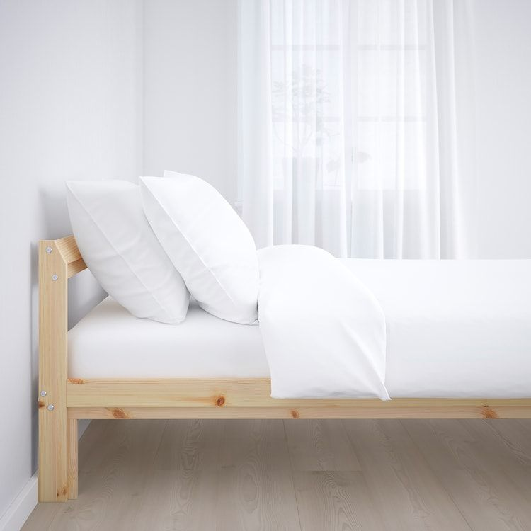 Neiden Bed Frame Pine Birch Luroy Full Ikea In 2020 Bed Frame Bed Slats Wood Bed Frame