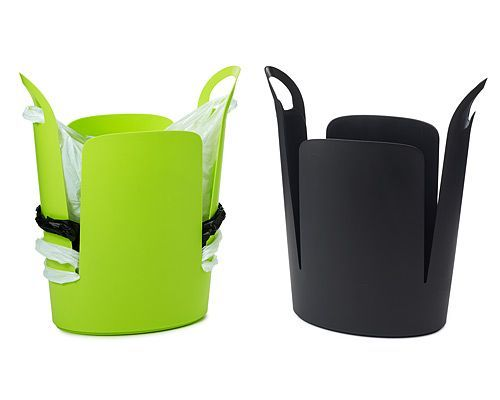 eco trash can, made from recycled polypropylene in the USA.  Winner of the 2005 Pratt Product Design Competition.