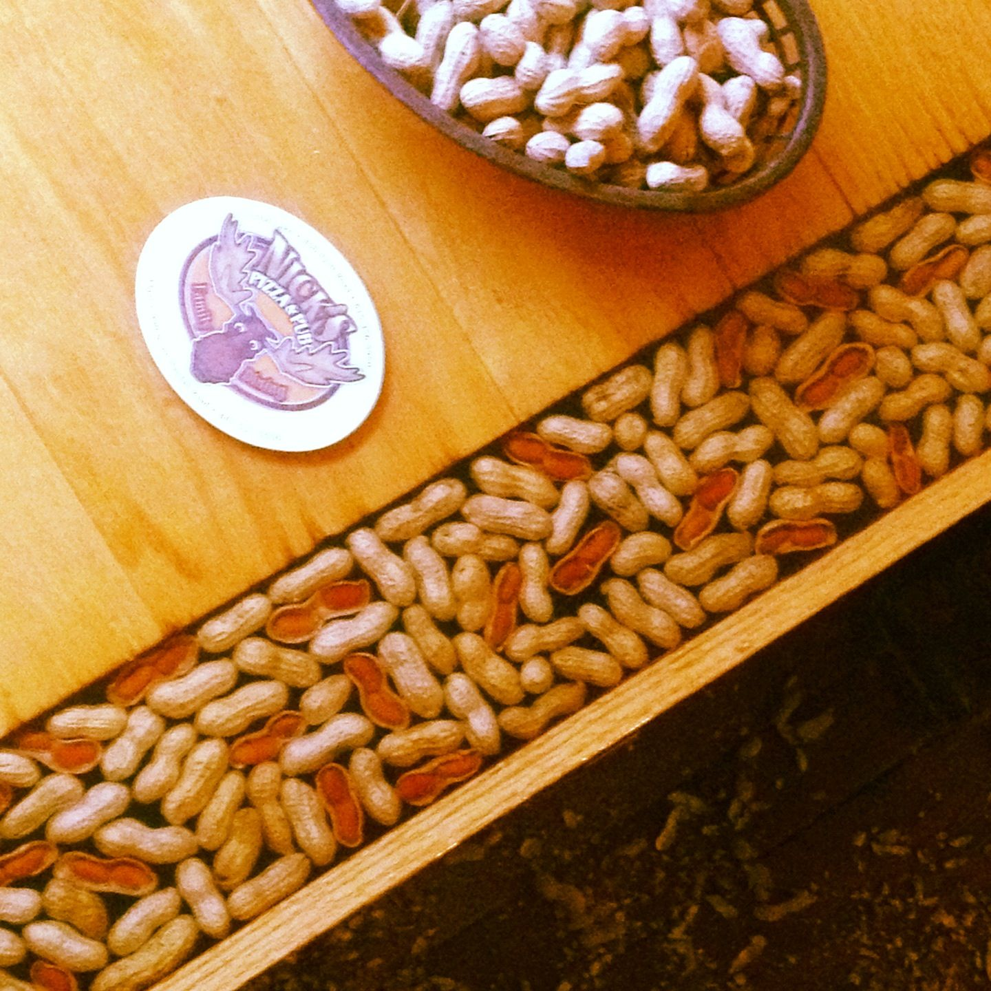 Peanuts in the table, peanuts EVERYWHERE!
