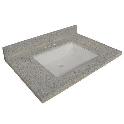 Design House Wave Bowl 49 in Single Vanity Top with Backsplash