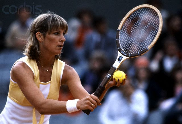 Chris Evert at the 1979 French Open