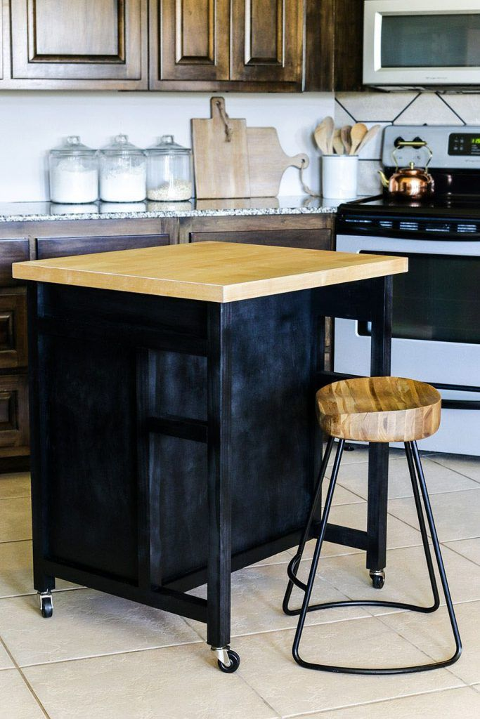 portable kitchen islands rolling movable designs diy kitchen island mobile kitchen island on kitchen island ideas diy id=13287