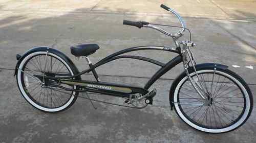 26 3 Speed Stretch Beach Cruiser Bike Bicycle 68 Spokes Mustang