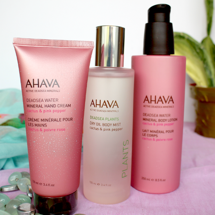 Giveaway, Review AHAVA Cactus & Pink Pepper Mineral Hand