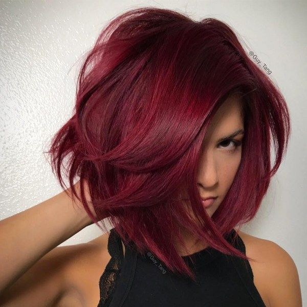 Say hello to fall 2017's go-to color—a luscious, ruby red. Guy Tang used the #mydentity shades over his client's pre-existing Level 7-8 highlighted hair to achieve this deep, powerful crimson. Here's the rest of the formula.