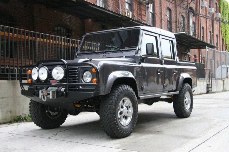 Land Rover Defender 110 4 Door Pick Up Truck Front Land Rover Defender Land Rover Defender Pickup Defender 110