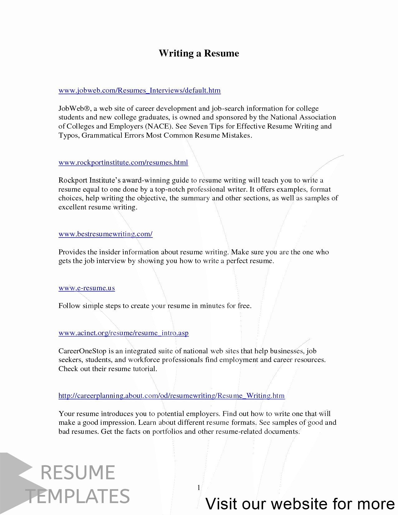 resume builder free online download in 2020 Resume
