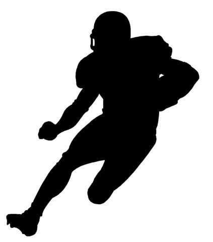 football player running silhouette - Google Search   Cut ...