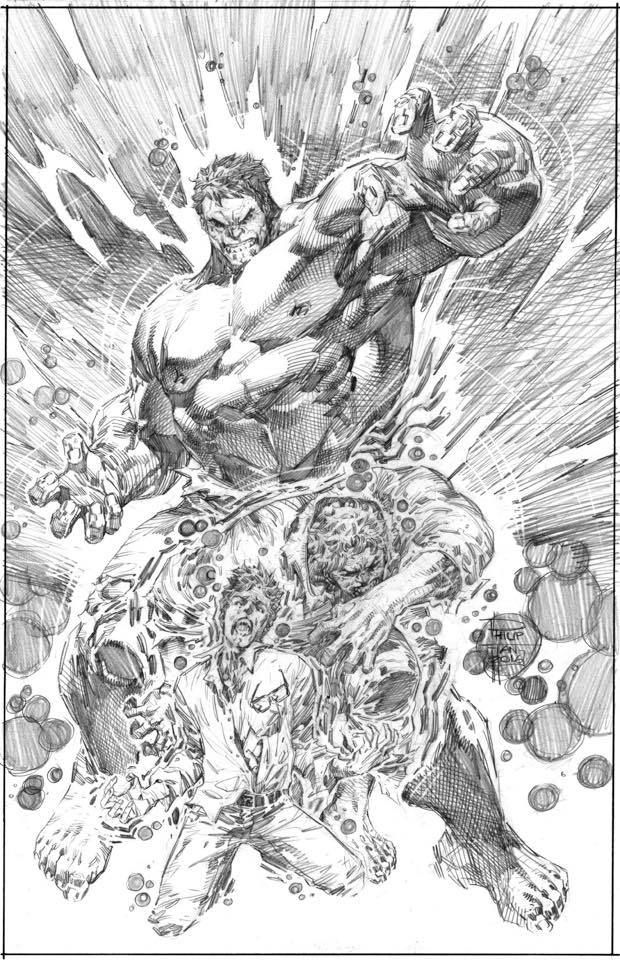 Bruce Banner - The Hulk Transformation by Philip Tan