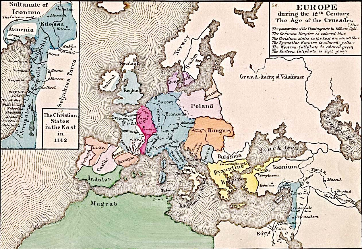 map of 12th century europe Old Map of Europe   12th century   london | Europe map, Old map