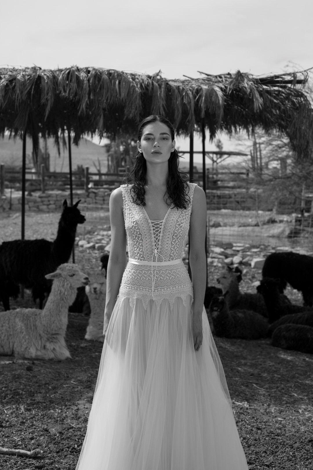 Livné white boho ubettyu wedding dress livnewhite alonlivne