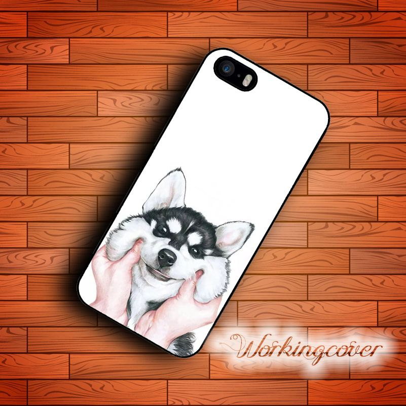 Capa Siberian Husky Case for iPhone 7 6S 6 5S SE 5 5C 4S 4 Plus Case Cover for iPod Touch 6 5 Case.