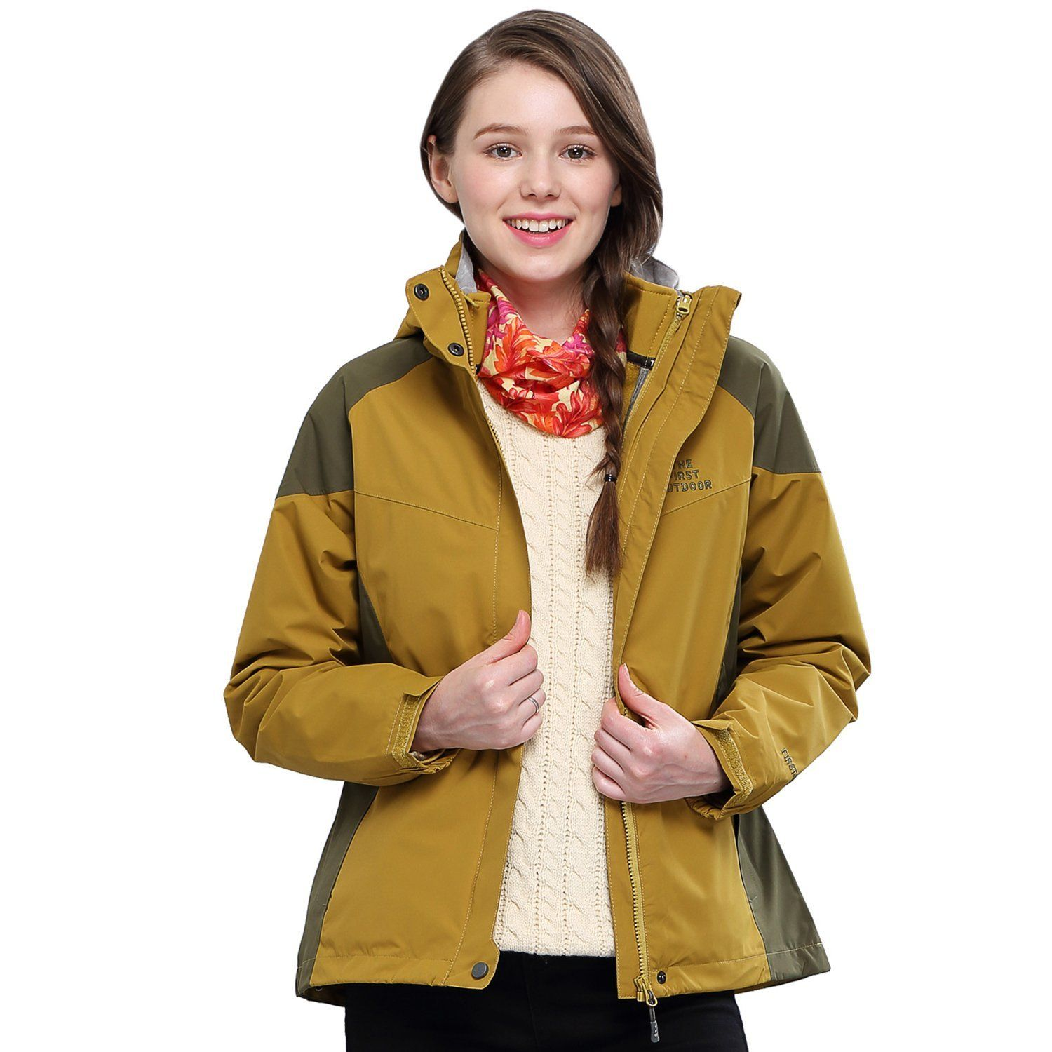 The First Outdoor Women's 3-in-1 Insulated Jacket Aneto Track ** Click image to review more details.