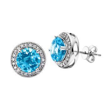 Costco Round Blue Topaz And Diamonds 499 Jazzy Jewelry
