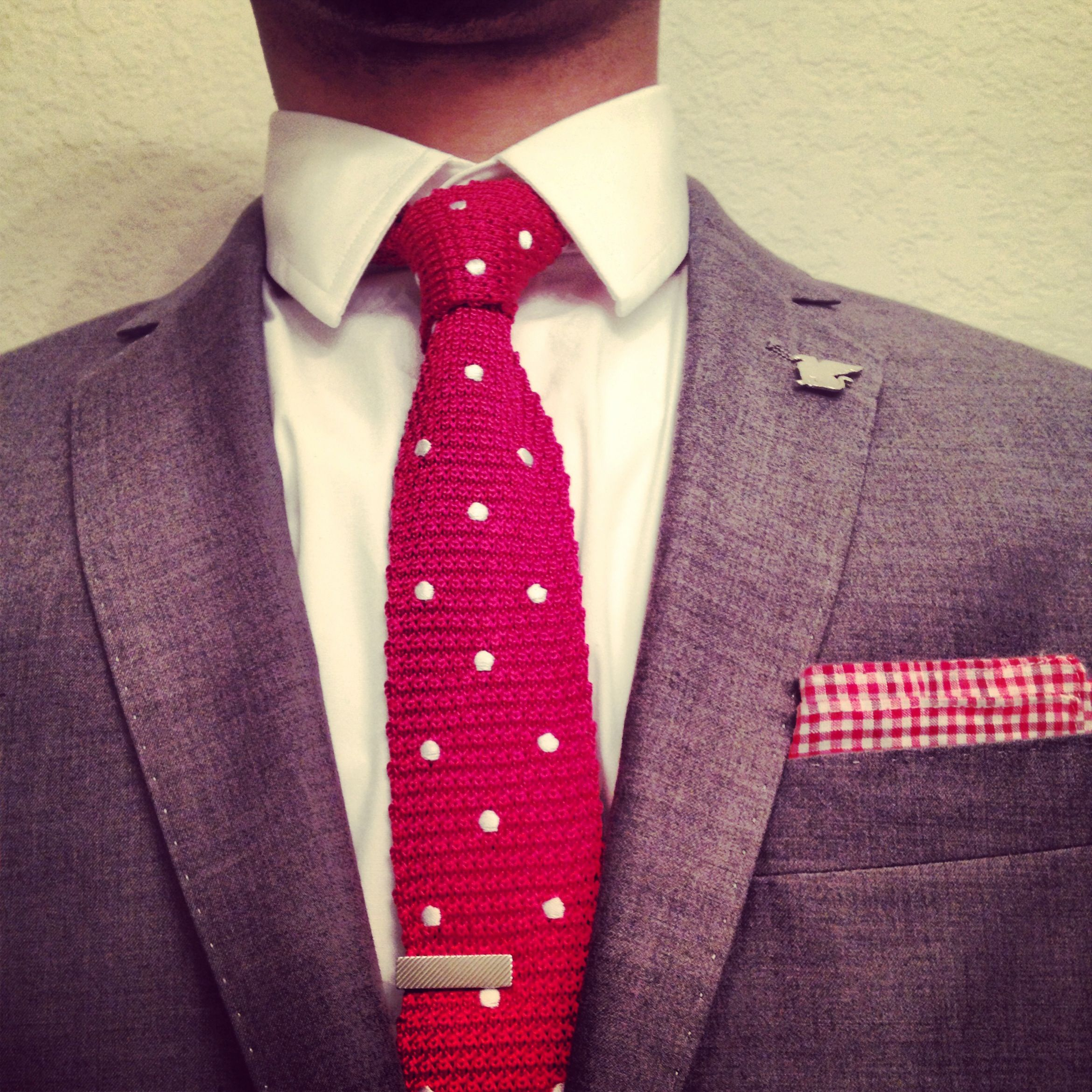 Tie and tie bar from The Tie Bar