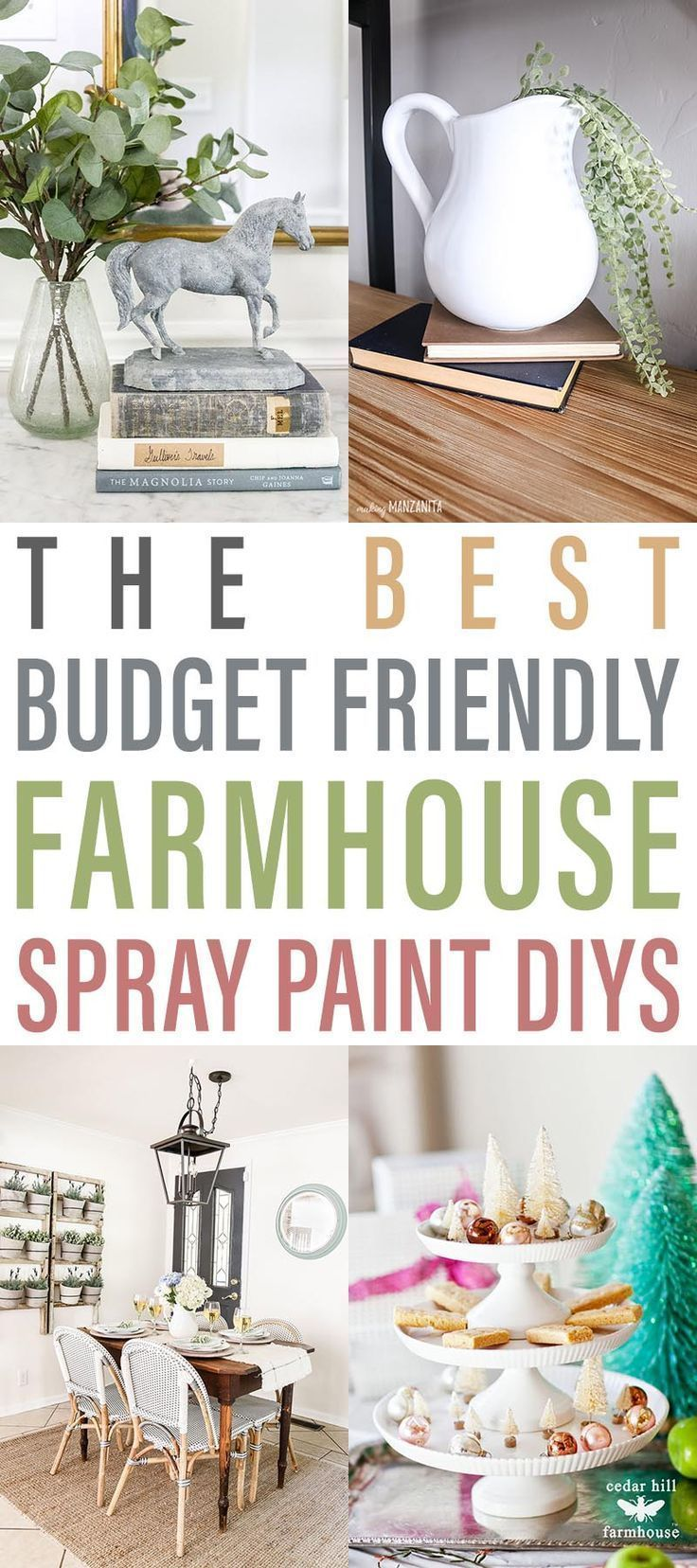 The Best Budget Friendly Farmhouse Spray Paint DIYS  If you want to see how you can transform items that you though have seen their day... come on over and see the magic of Spray Paint!  Get the Farmhouse look on the cheap and quickly.  You are going to love all of these ideas and projects!  Come and be inspired and then create.  #FarmhouseDIY #diyfarmhouseprojects #spraypainting #DIYSpraypaintingoprojects #FarmhouseSprayPaintingProjects  #FarmhouseSprayPaintingDIYS #DIYS #Spraypaintingprojects