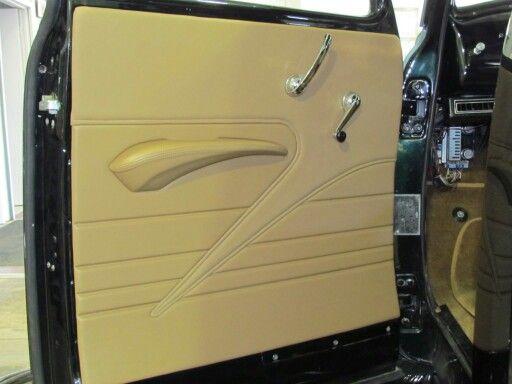 49 Chevy Pickup Custom Door Panel Car Interior Design Car Interior Truck Interior