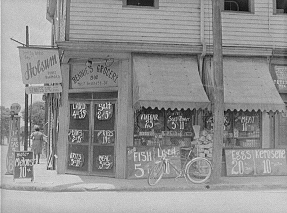 Prices Posted Outside; Farm Security Administration/Office Of War  Information Black U0026 White, Library Of Congress Prints And Photographs  Division Washington, ...