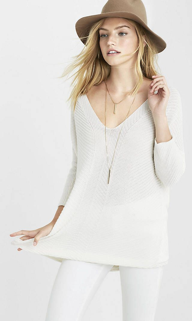 Engineered Rib Express London Tunic Sweater from EXPRESS