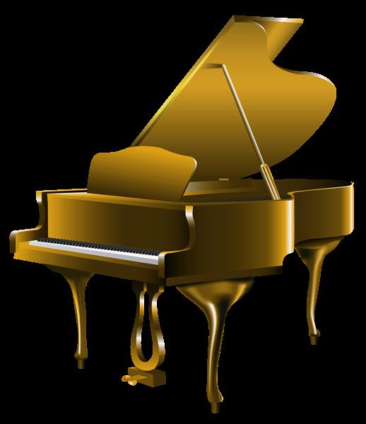 Transparent Gold Piano Png Clipart Festa Tema Musica Instrumentos Musicais Musicas Classicas Piano