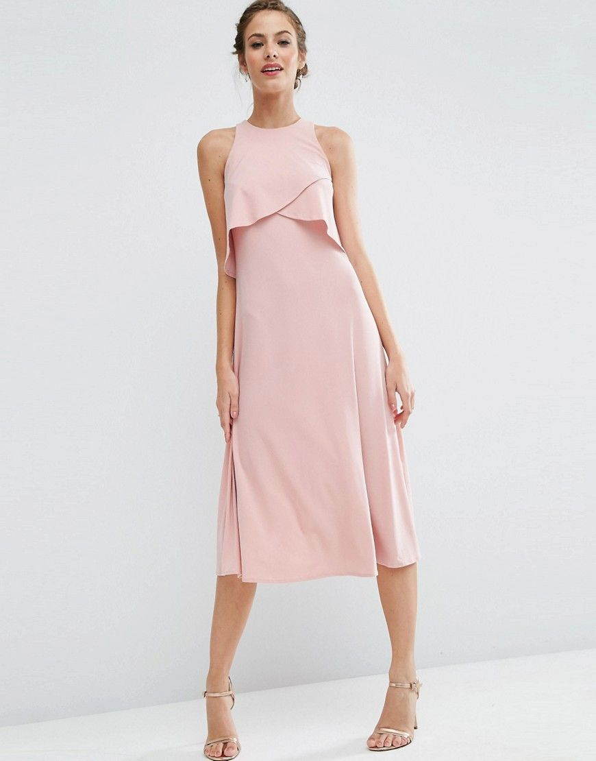 9f85d5dfc1bd Image 1 of ASOS WEDDING Double Layer Midi Dress