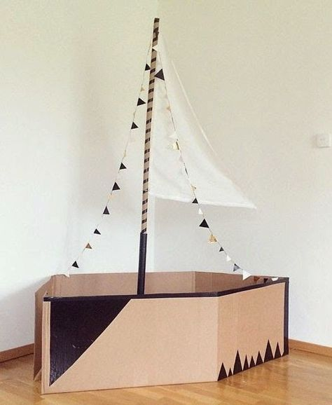 Mommo Design Recycle And Play Cardboard Boat Kinderbasteleien