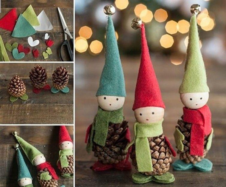 aprende a realizar adornos de navidad con materiales reciclados para celebrar las fiestas de una manera - Adornos De Navidad Con Pias