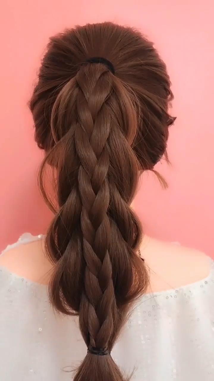 48 Easy Braided Hairstyles Glorious Long Hair Ideas Videos In 2020 Frisuren Videos Easy
