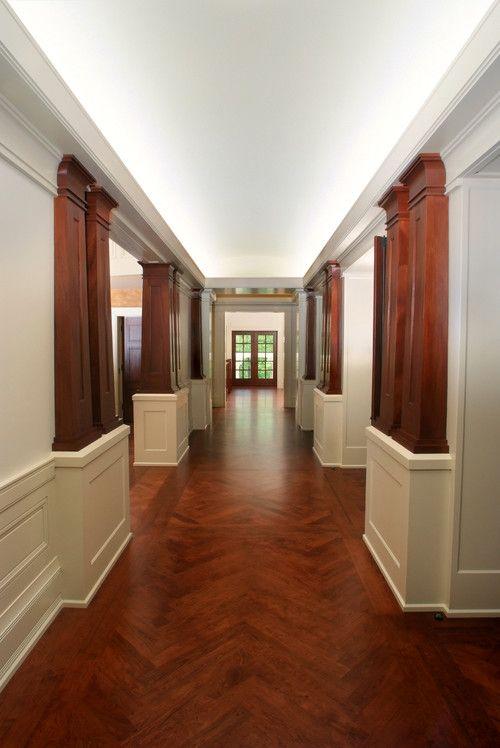 Hardwood Takes Center Stage In Craftsman Design Hardwood Floors Herringbone Hardwood Floors Flooring