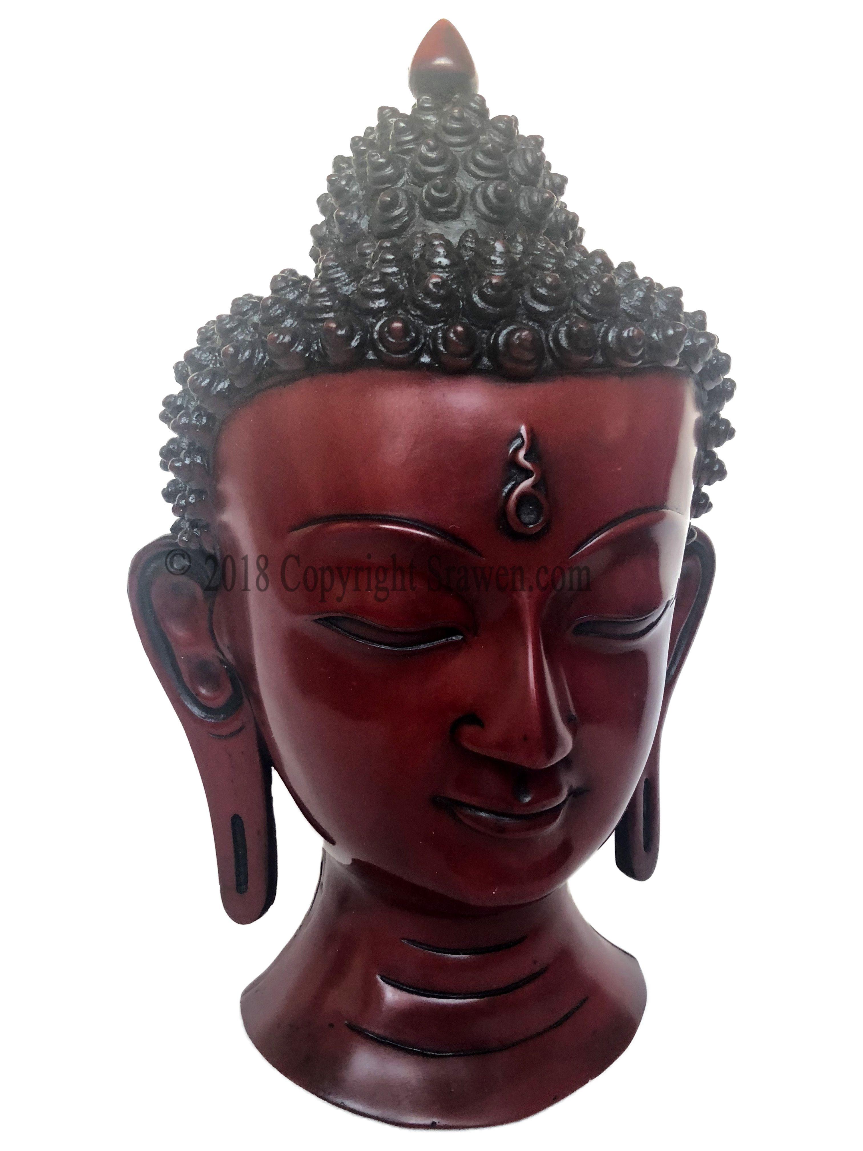 Buddha Head Wall Hanging Resin Handmade Sculpture Buddha Bust
