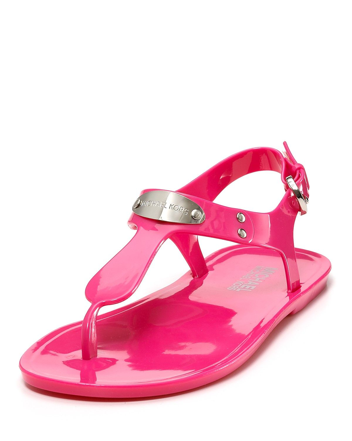 af88f1b3865 MICHAEL Michael Kors Logo Plate Jelly Sandal -- Simple