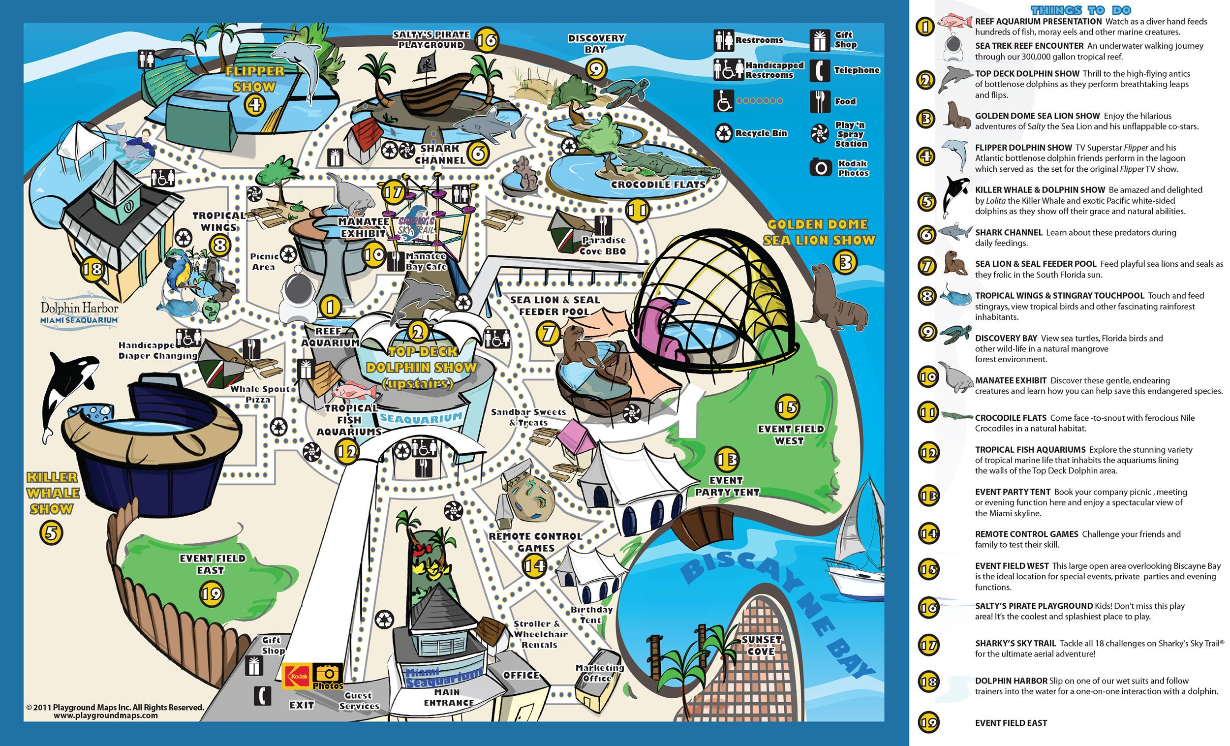 Park Map Miami Seaquarium Spring Break Trip Fl Miami