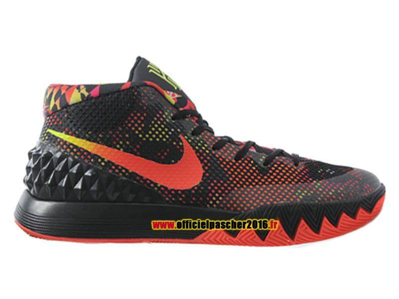 50decf38f79 Officiel Nike Kyrie 1 iD Chaussures Nike Basket-ball Pas Cher Pour Homme  Noir - orange 705277-016