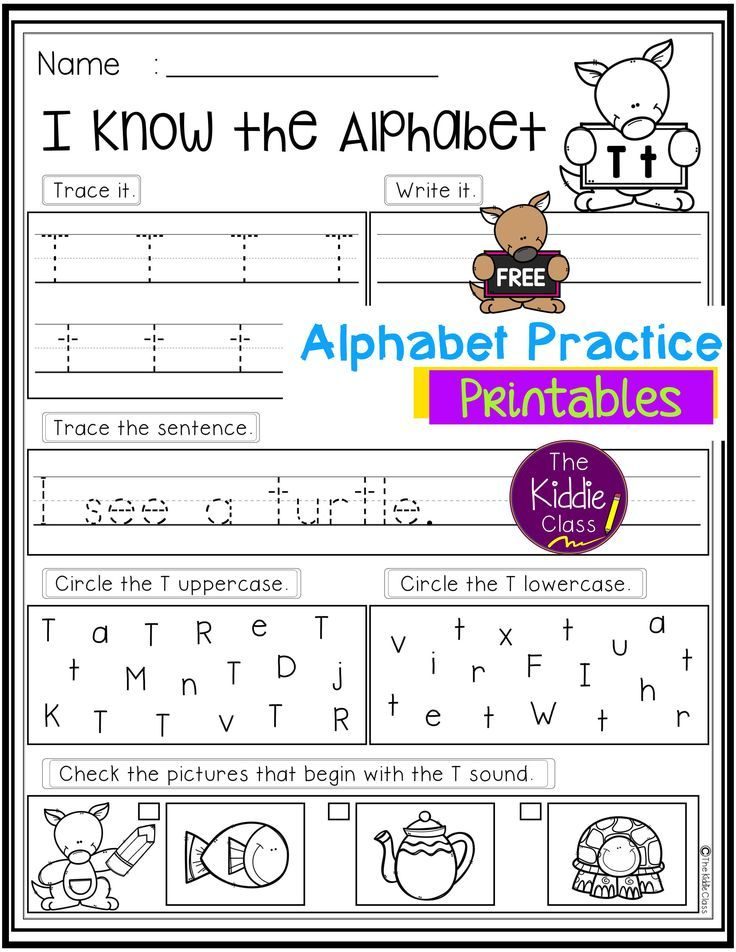 Free Alphabet Practice Printables First grade freebies