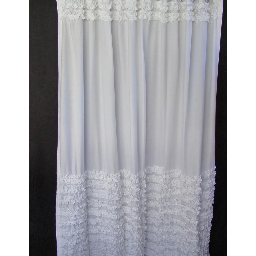 Curtains Of Feather White Ruffle Curtains 171 Blinds