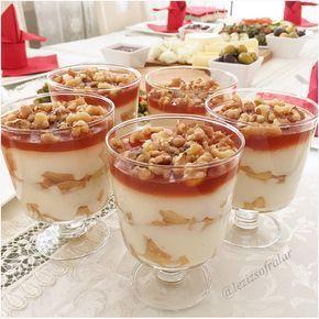 Kupta Elmali Karamelli Muhallebi #applerecipes