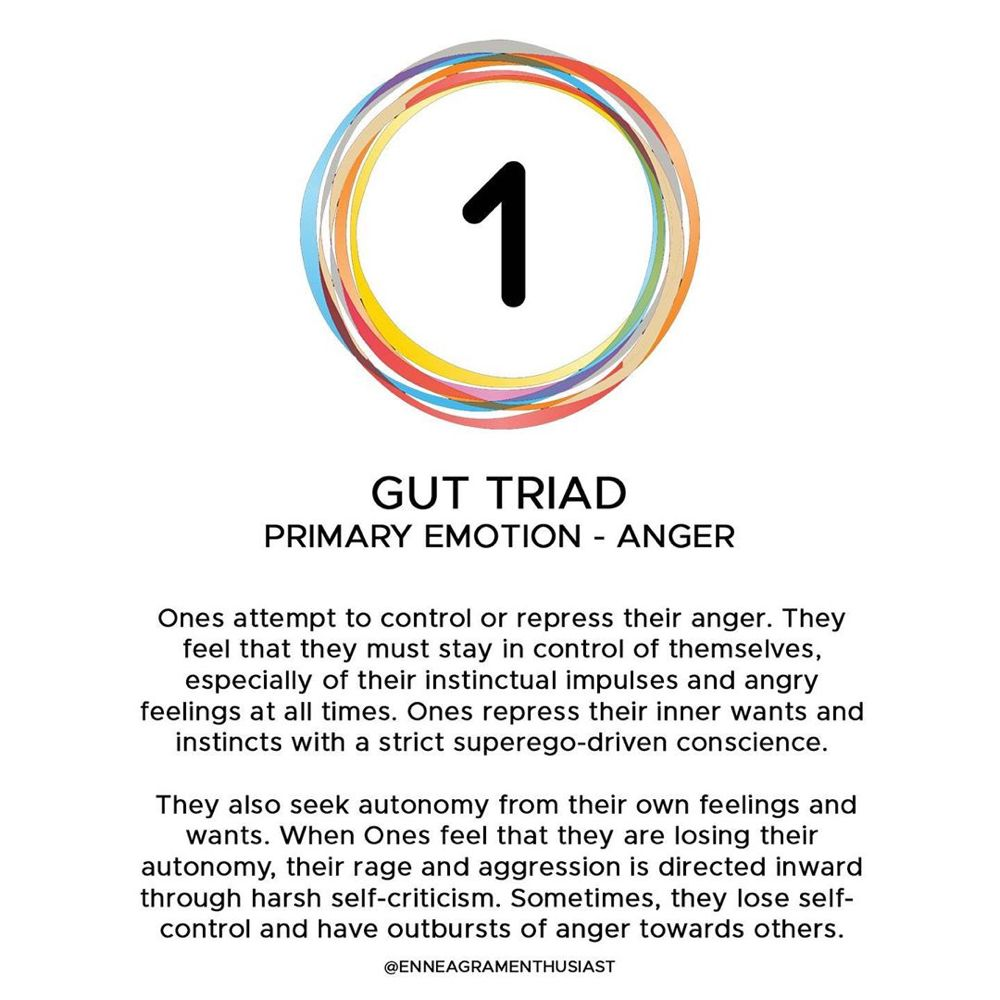"""Sierra   Enneagram Enthusiast on Instagram: """"We're doing a new mini series with the triads and starting off with the gut triad.  The types in the gut triad have gifts and issues…"""""""