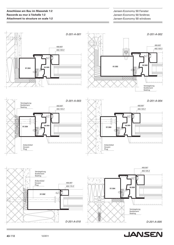 catalogue jansen economy 50 windows facade menuiseries. Black Bedroom Furniture Sets. Home Design Ideas