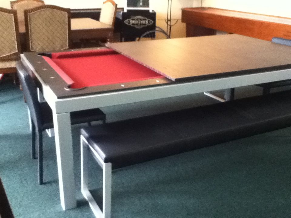 The Fusion Adjustable Height Pool Table With Dining Top Pool Table Billiard Table Billiards